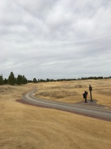 The tee shot at the second, where three fairway bunkers make it look tighter than it is