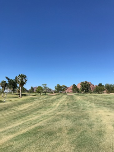 Another view of the par 4, 5th, from farther back