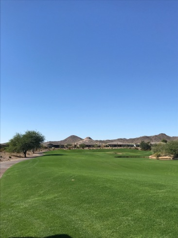 The approach from the right side of the par 4, 4th