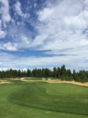 The par 3, 8th, is one of two par 3's without water